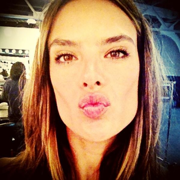 Alessandra Ambrosio blew a kiss to a special fan. Source: Twitter user AngelAlessandra