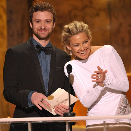 Kate Hudson joined Justin Timberlake to present an award at the 2010 SAG Awards in LA.