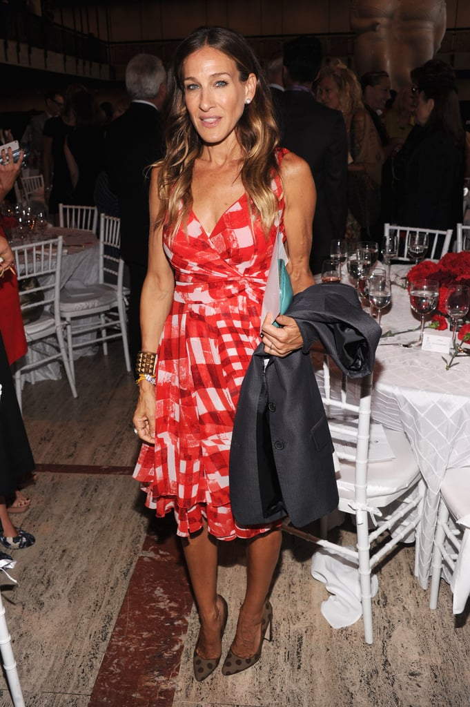 Sarah Jessica Parker stepped out for a lunch honoring Oscar de la Renta.