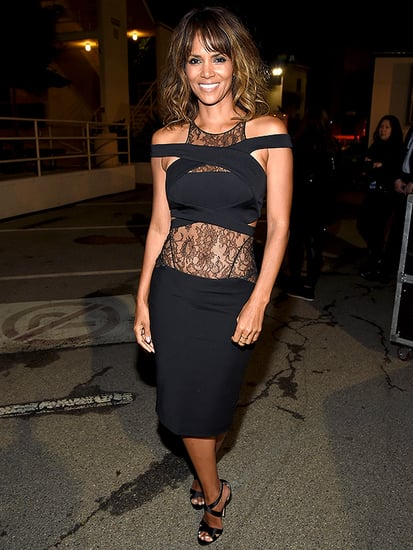 Hello Halle! Berry, 49, Shows Off Toned Tummy in Lace-Paneled Dress at the MTV Movie Awards