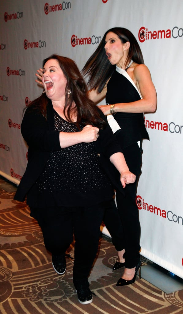 Sandra Bullock and Melissa McCarthy at CinemaCon ...