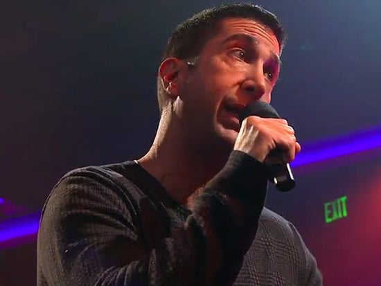 David Schwimmer Drops the Mic in Rap Battle with James Corden: 'I Worked with a Monkey That Had More Skills Than You'
