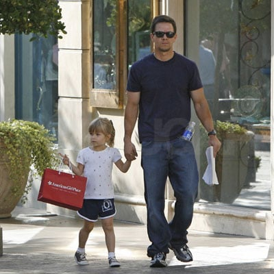Mark Wahlberg Takes His Daughter Ella Shopping