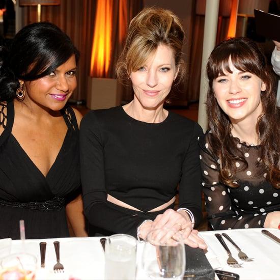 Zooey Deschanel, Mindy Kaling at Elle Magazine TV Party