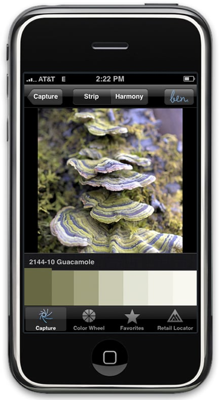 benjamin moore launches color paint matching iphone app