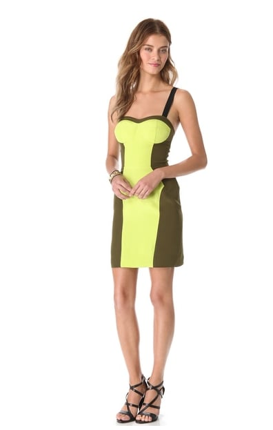 Not only is this Rebecca Minkoff Claudia Dress ($99, originally $328) a bright play on Spring's colorblocking trend, but also, the color scheme creates a figure-flattering silhouette.