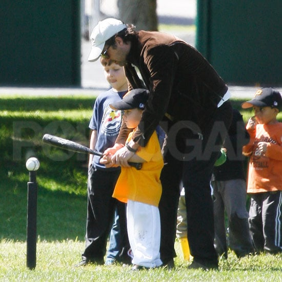Pictures of Patrick Dempsey at Little League Practice With His Twin Boys Darby and Sullivan and Wife Jillian