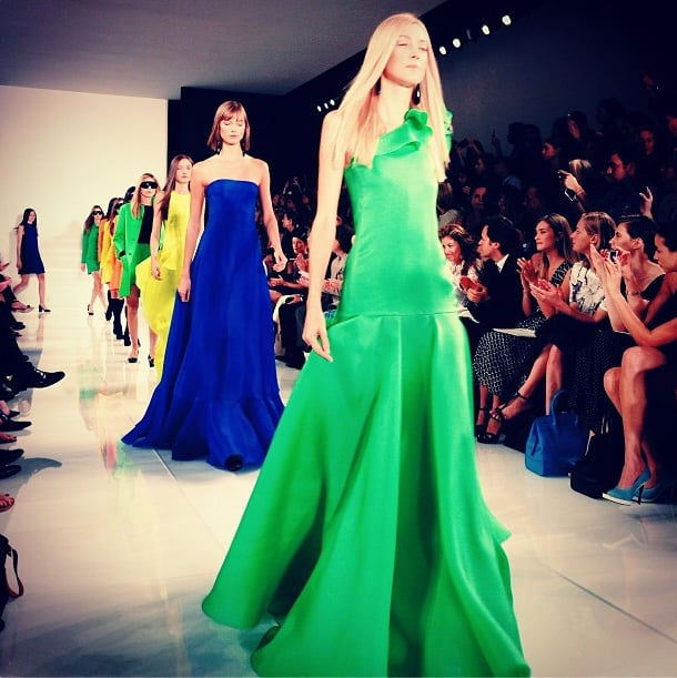 Ralph Lauren's vibrant gowns ended the designer's show with a bang. Source: Instagram user cfda
