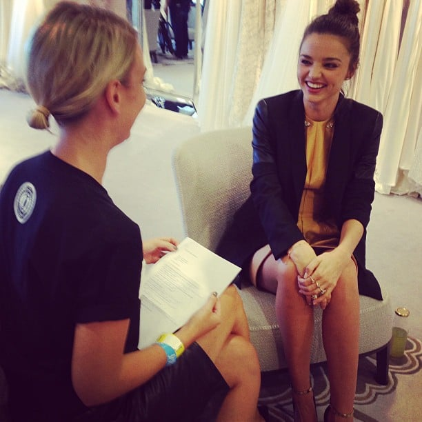 Alison and Miranda Kerr shared a laugh during their interview.