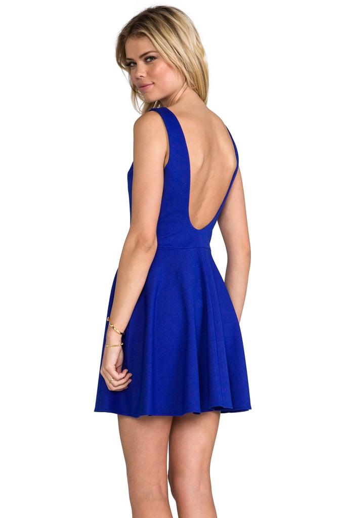 Amanda Uprichard Backless Blue Skater Dress ($171)