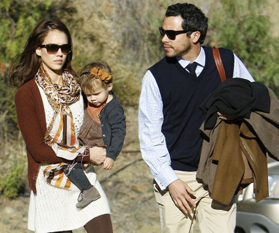 Slide Photo of Jessica Alba and Cash Warren With Honor Marie In Malibu