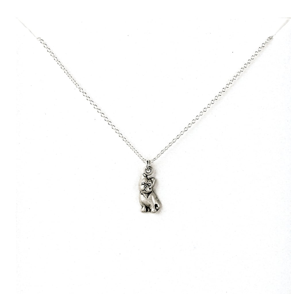 Wag by Dogeared French Bulldog Sterling Silver Necklace ($48)