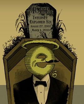 Mock Funeral For Internet Explorer 6 Tonight