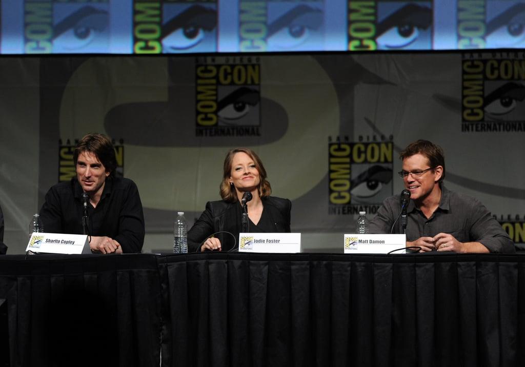 Matt Damon talked with Jodie Foster about Elysium.