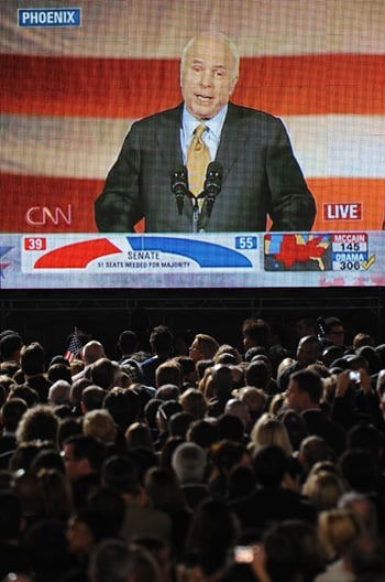 John McCain Concedes, Offers Support to Obama