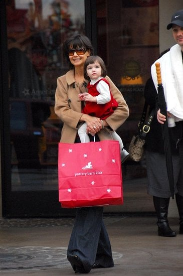 Katie Holmes and Suri Cruise Shopping at The Grove 2007-12-08 14:01:42