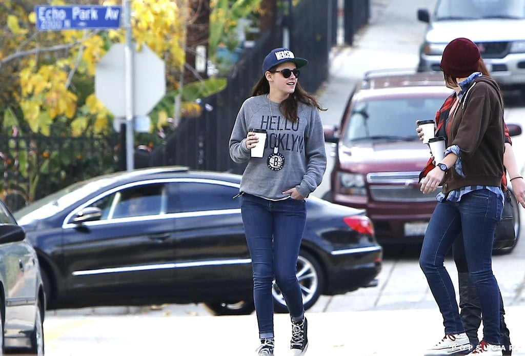 Kristen Stewart had a casual Sunday with friends.