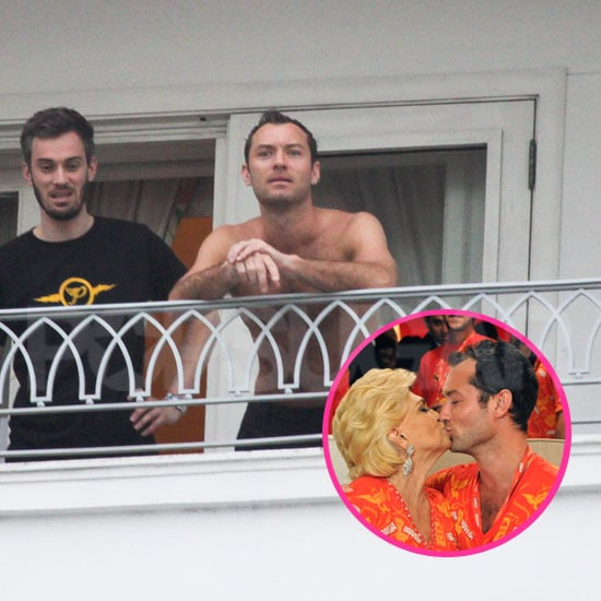 Pictures of Jude Law Shirtless at Carnival