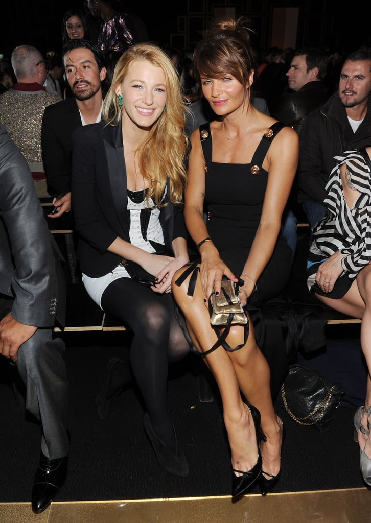 Blake Lively and Helena Christensen looked chic at the Versace for H&M fashion show.