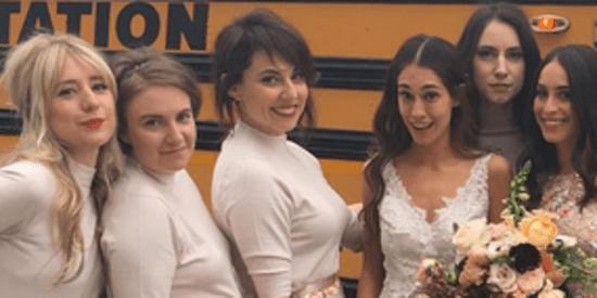 Lena Dunham's Latest Bridesmaid Look Is One We'd Gladly Wear Again