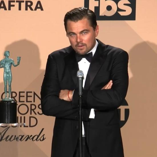 Leonardo DiCaprio Reveals His First Role at SAG Awards 2016