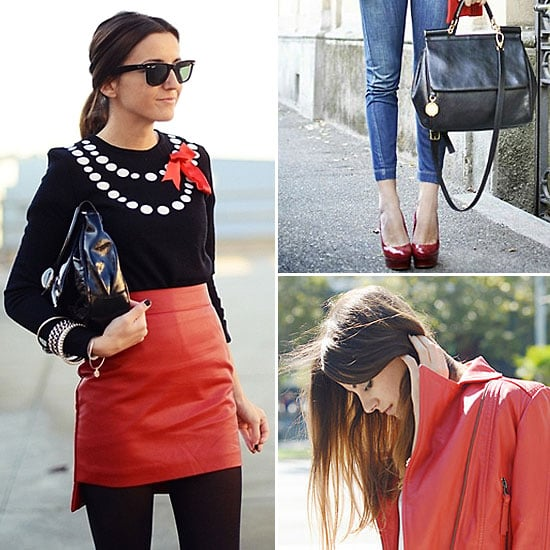 Red Street Style Looks January 2012