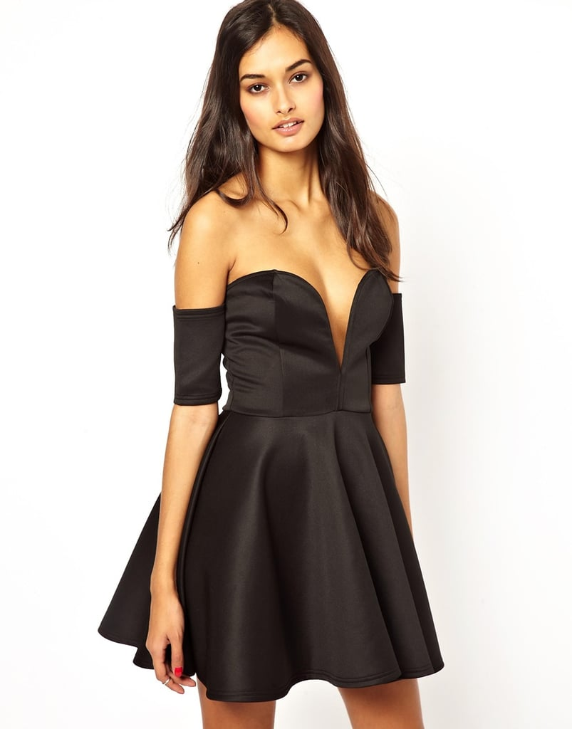 Club L off-the-shoulder black strapless sweetheart-neckline dress ($28, originally $75)
