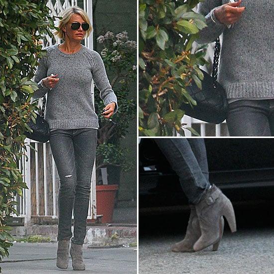 Cameron Diaz Gray Jeans January 2012
