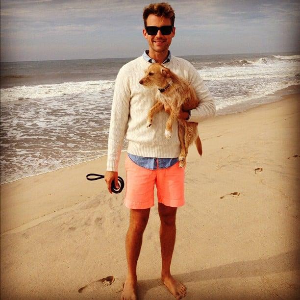 Brad Goreski showed off a colorful beach-day look. Source: Instagram user mrbradgoreski