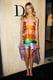 Isabel Lucas in Striped Dior Dress