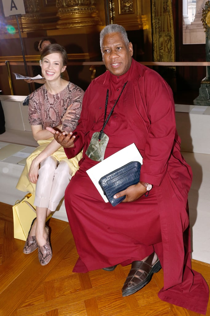 André Leon Talley chatted with Elettra Wiedemann at the Stella McCartney show on Monday.