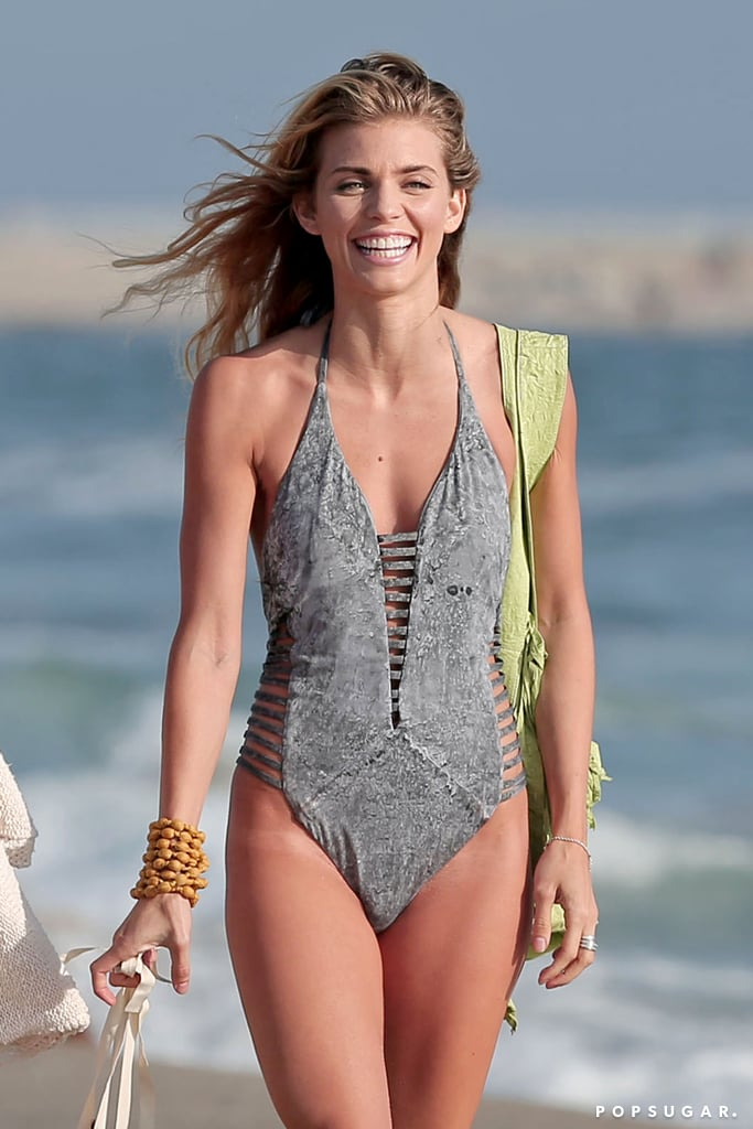 AnnaLynne McCord hit the beach in her swimsuit on Monday in LA.