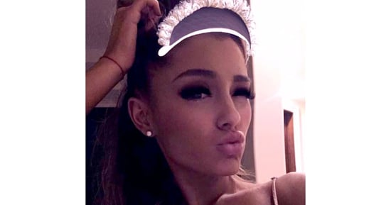 Ariana Grande Channels Blair Waldorf in Bed