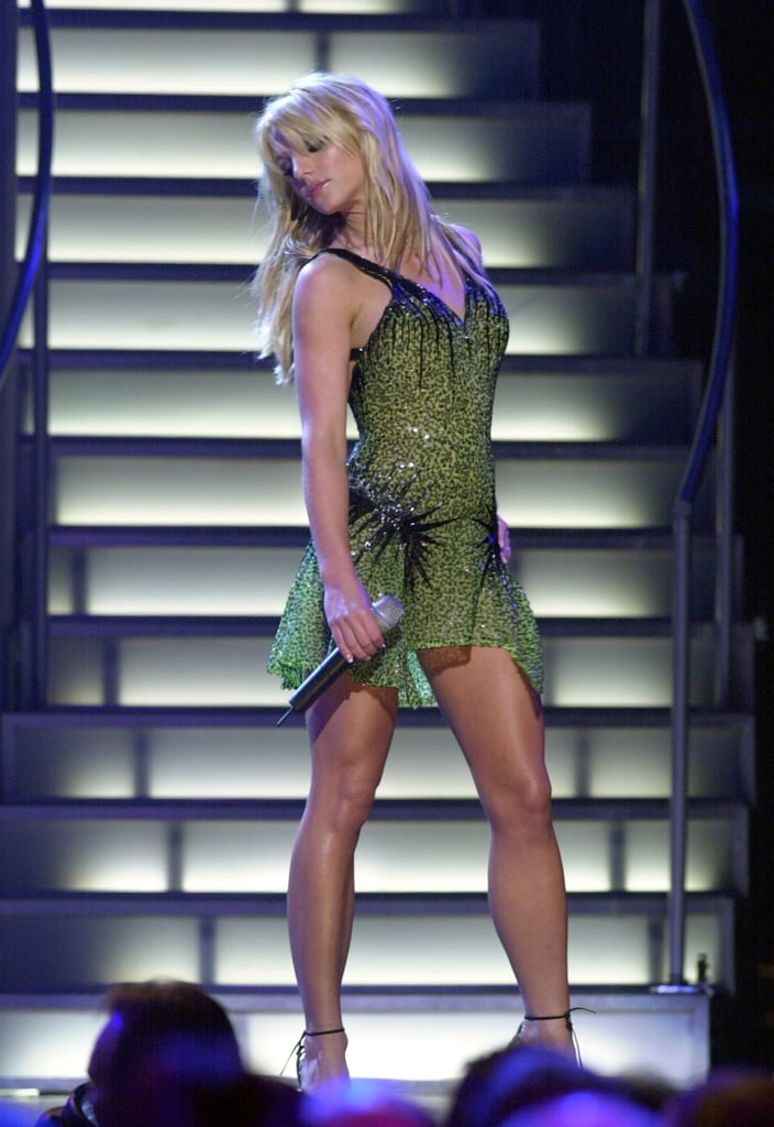 In September 2001, Britney Spears took the mic at Michael Jackson's 30th Anniversary Celebration in NYC.