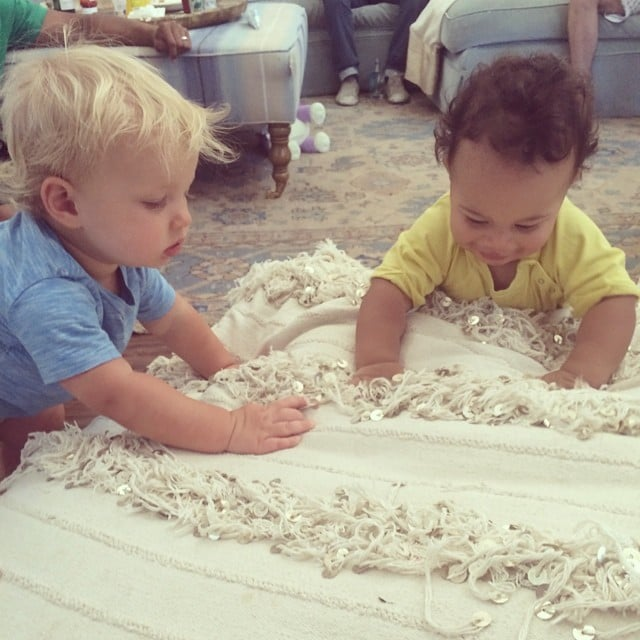Ace Johnson and Rocco Faison enjoyed an indoor playdate.  Source: Instagram user jessicasimpson
