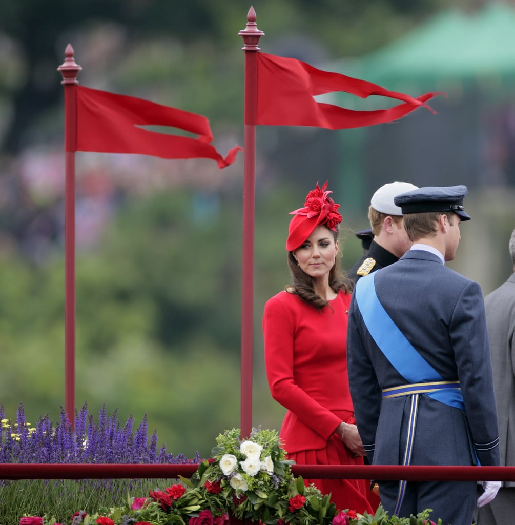 Catherine, Duchess of Cambridge, and Prince William were aboard the Royal Barge during the Diamond Jubilee Thames River Pageant in June.