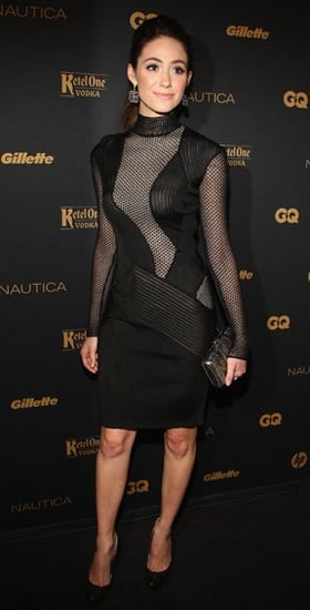 Emmy Rossum Wears Sheer Cut Out Ferragamo Dress to GQ's Gentlemen's Ball in NYC