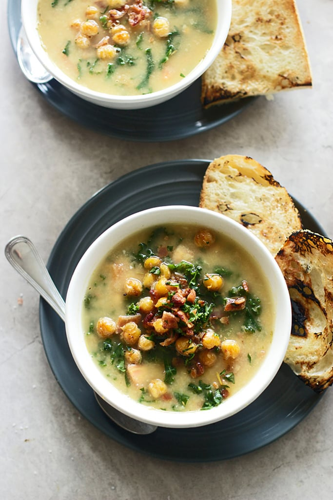 Chickpea Soup With Kale and Bacon