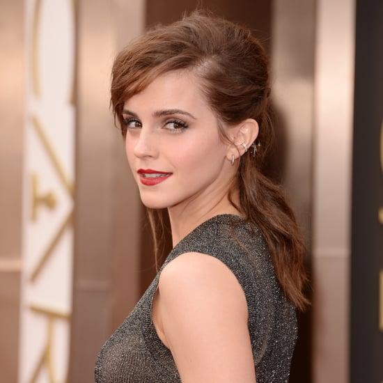 Emma Watson Hair and Makeup at Oscars 2014