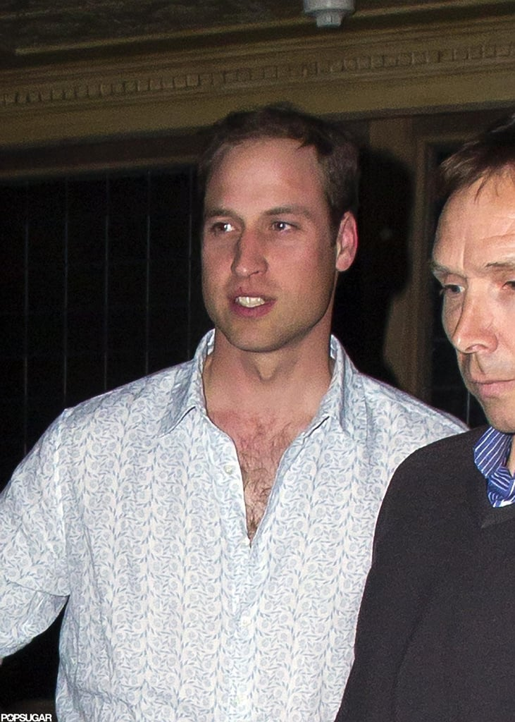 Prince William was spotted leaving a club in London.