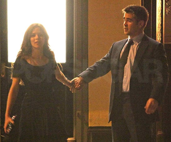 Photo Slide of Colin Farrell and Anna Friel Filming London Boulevard in London