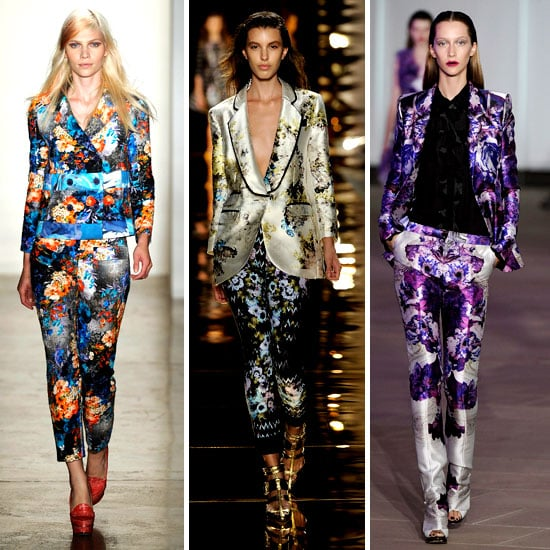 Printed Suits Trend at 2012 New York Fashion Week