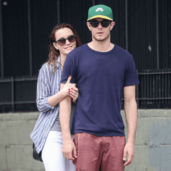 Adam Brody and Leighton Meester Walking in NYC