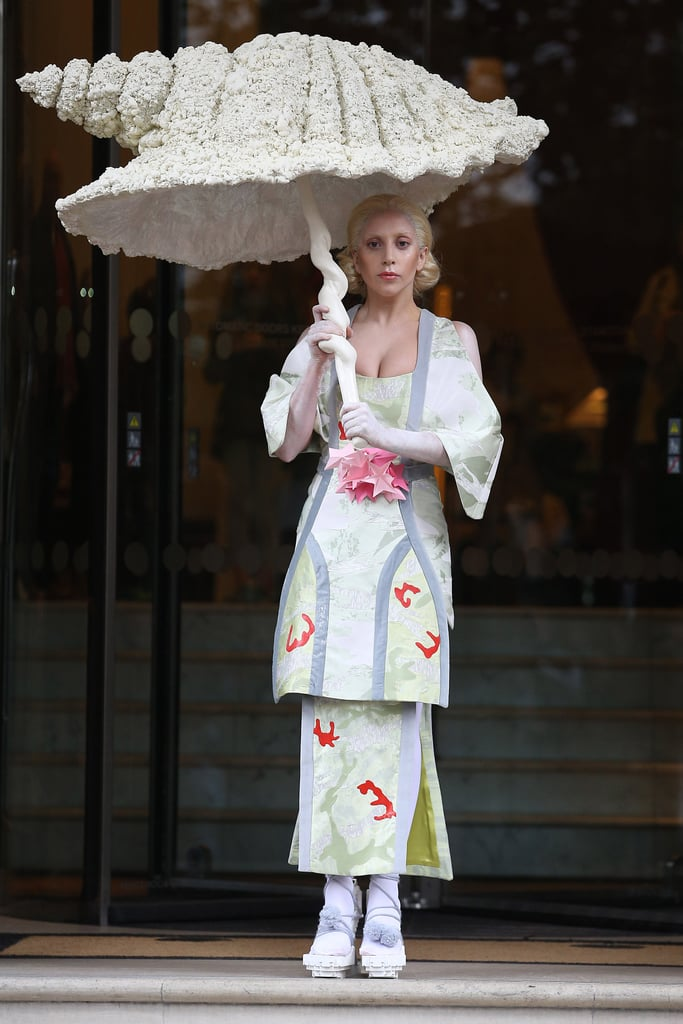 Lady Gaga in Geisha Costume For Halloween 2013