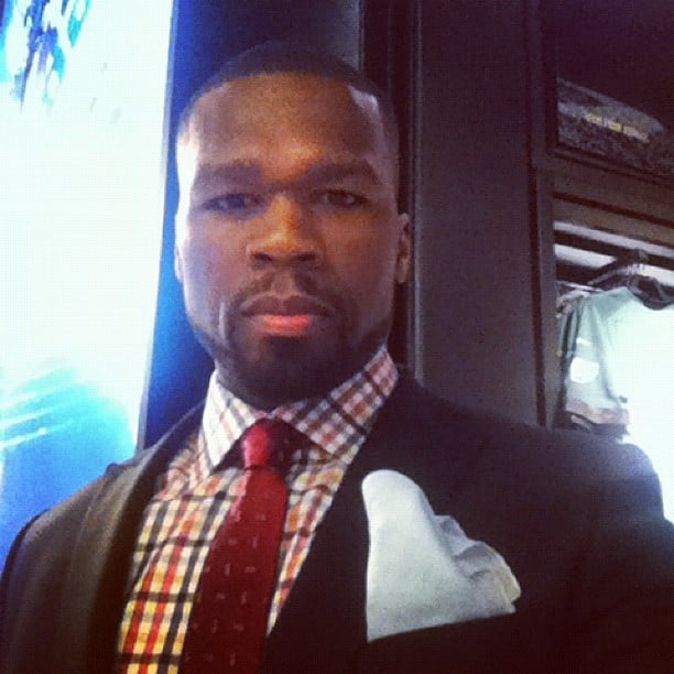 50 Cent documented the night with a self portrait. Source: Instagram user 50cent