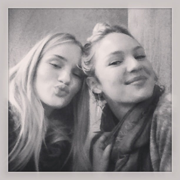 Rosie Huntington-Whiteley and Candice Swanepoel snapped a photo together. Source: Instagram user rosiehw