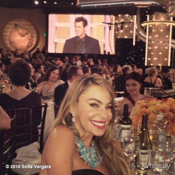 Sofia got excited about Jim Carrey, who she said was her idol. Source: Instagram user sofiavergara