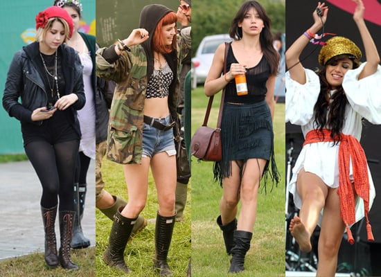 Photos of Daisy Lowe, Peaches Geldof, Pixie Geldof at Glastonbury 2009
