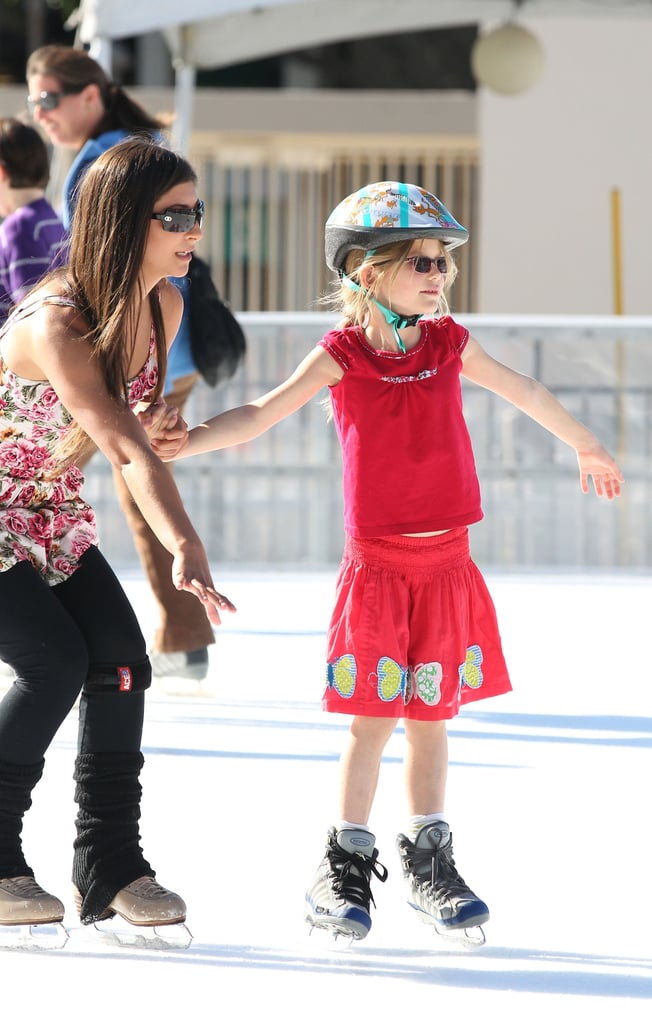 Violet Affleck played on the ice.