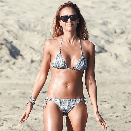 Jessica Alba and Cash Warren on the Beach in Mexico 2015